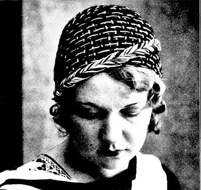 The Vintage Pattern Files: Free 1930's Crochet Pattern - Sports Cap