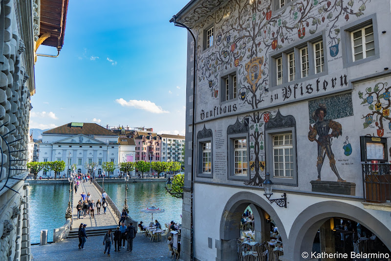 Kornmarkt Frescoes Two Days in Lucerne Luzern Switzerland