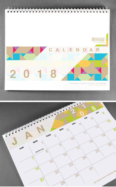 2018 monthly calendar printable