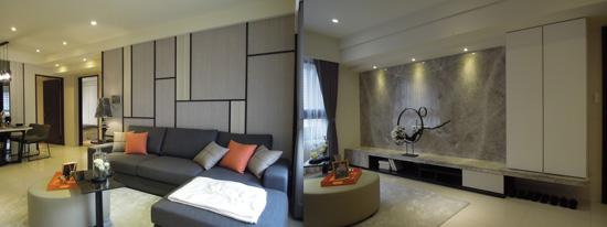 現代風的空間設計風格融入場域氛圍,簡約美感從客廳開始~