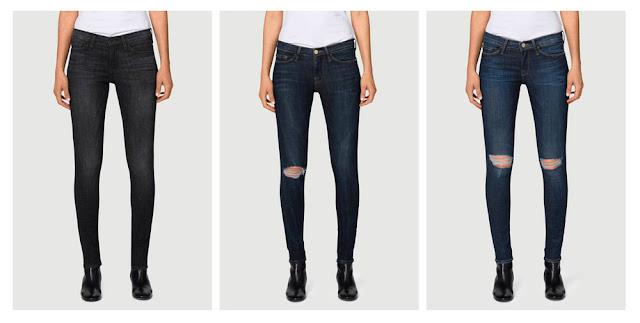 Девушка в рваных на коленях джинсах