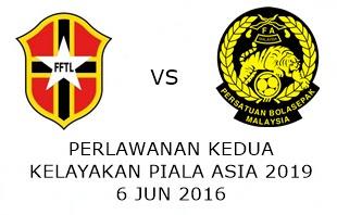 Live Streaming Keputusan Timor Leste Vs Malaysia 6 Jun 2016