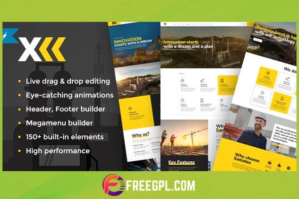 Samatex - Industrial & Woocommerce WordPress Theme Free Download