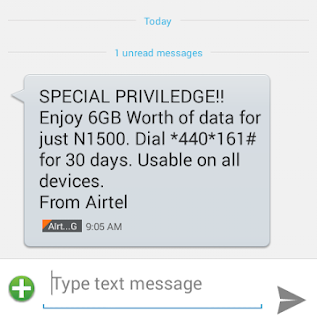 Airtel Special Privilege Data Offer: Get Airtel 6GB For N1,500 Now