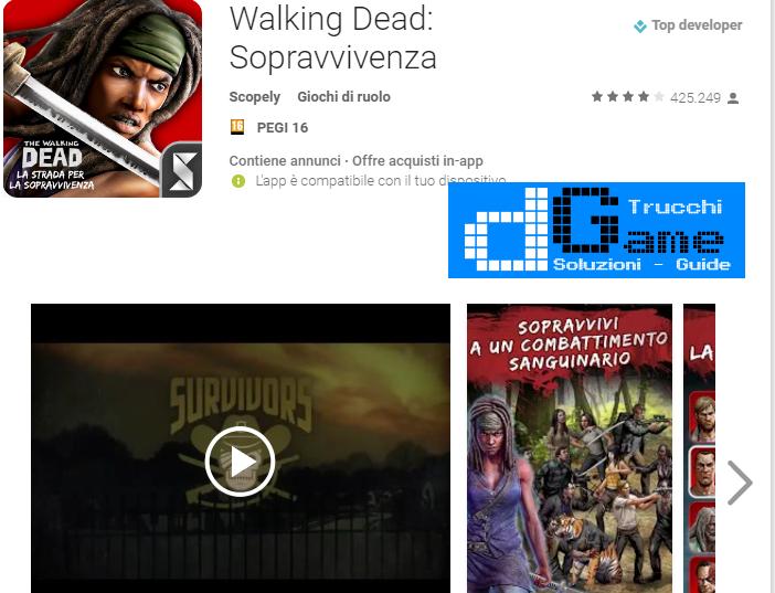 Trucchi Walking Dead: Sopravvivenza Mod Apk Android v2.3.3