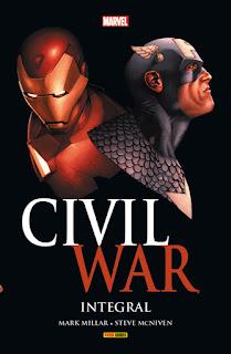 CIVIL WAR INTEGRAL  Marvel comic de  Brian Michael Bendis, Alex Maleev, Mark Millar y Steve McNiven Reseña de Civil War Integral