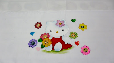 pintura da hello kitty para festa junina