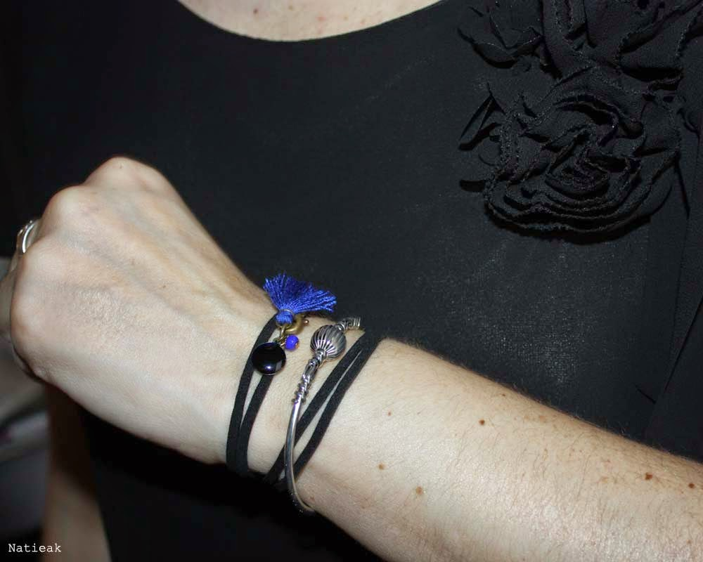 bracelet jonc nepal et Emyline creation