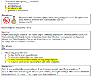 Download Soal Dan Pembahasan Ujian Nasional Bahasa Inggris Smp Tahun 2014 Ayobain