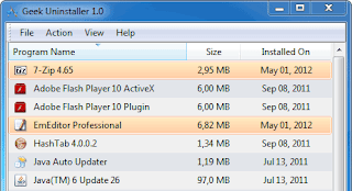 برنامج GeekUninstaller لازالة البرامج من جذورها