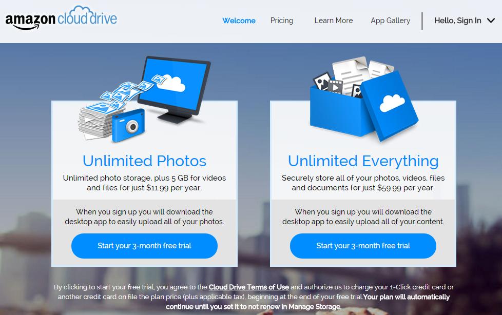 Amazon Introduces Cheap Unlimited Cloud Storage Plans
