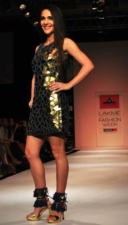 Tara Sharma for Pia Pauro1 -  Bollywood celebs at Lakme Fashion Week 2012