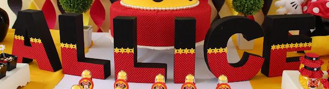 Letras 3D festa tema minnie vermelha