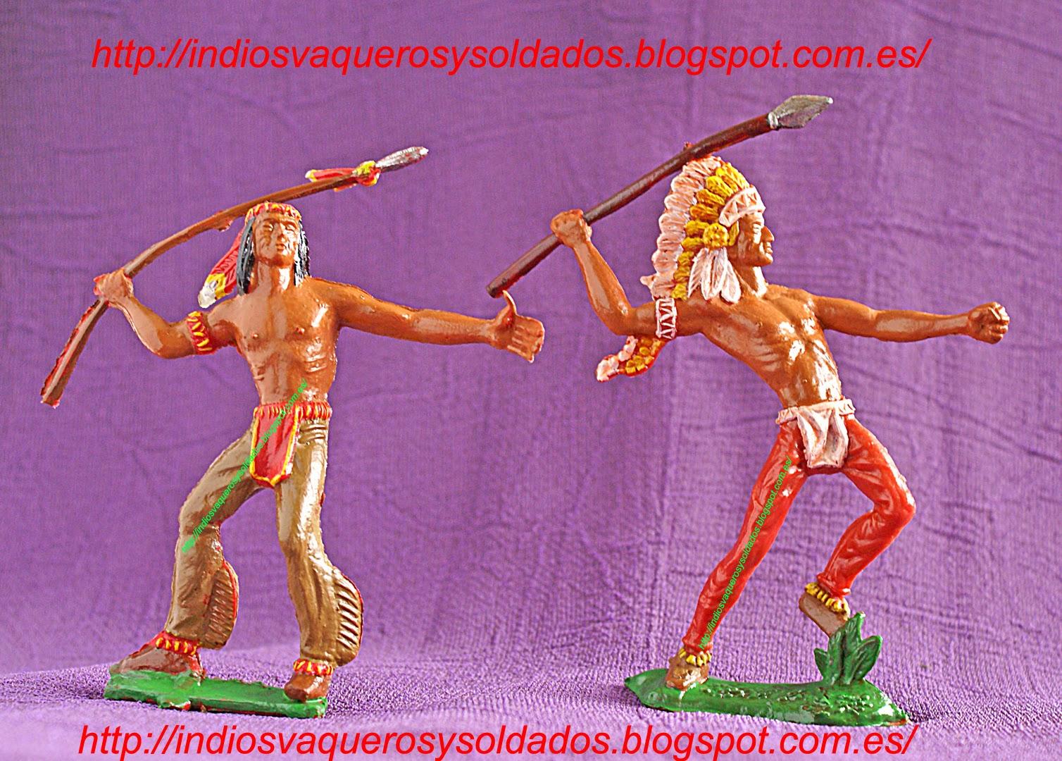 Indios Lafredo pintados a color