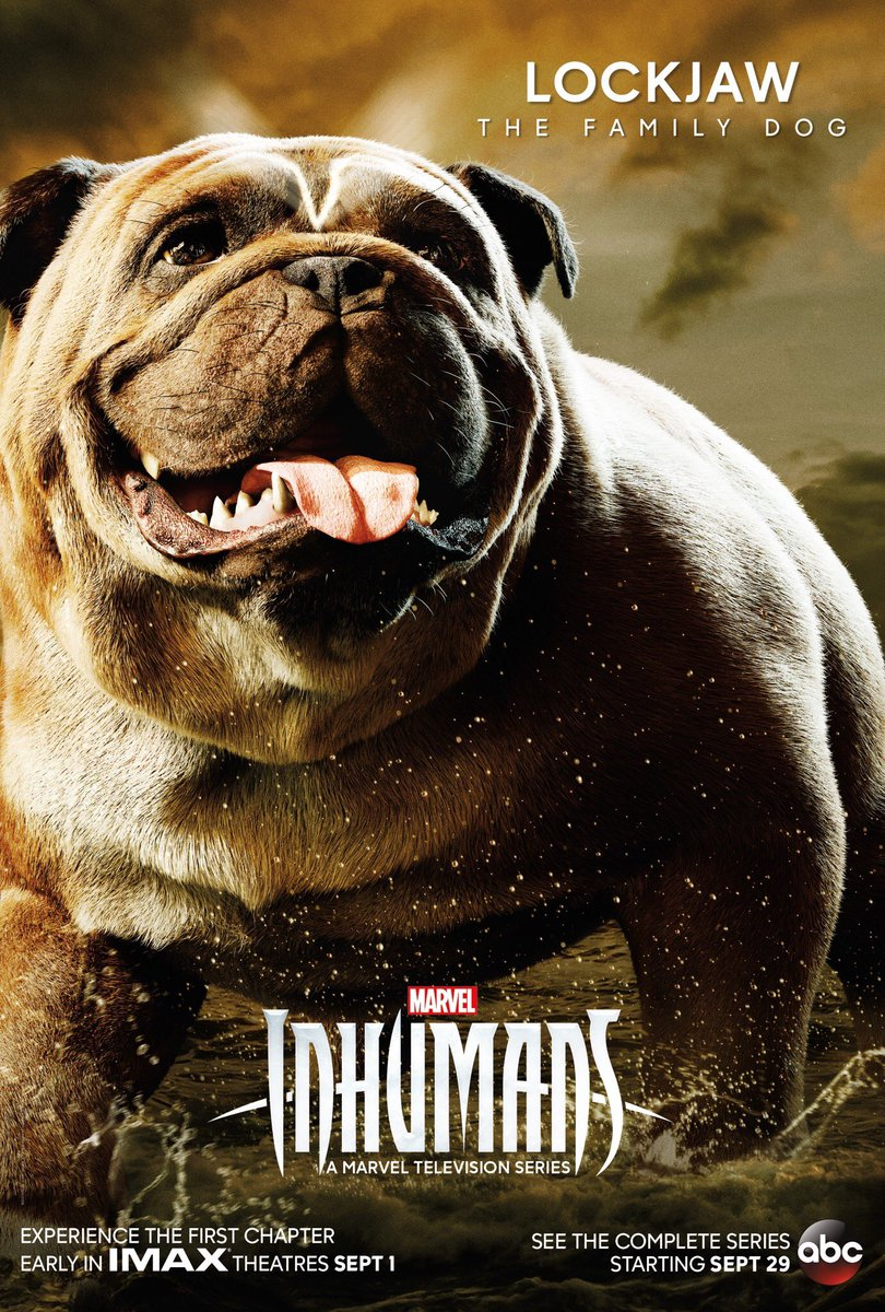 Marvel's Inhumans Lockjaw poster