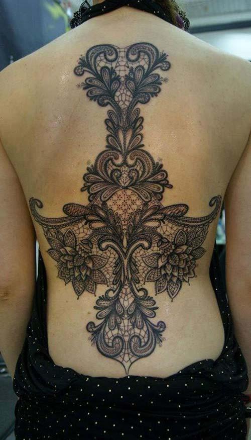 dantel dövmeleri lace tattoos 36