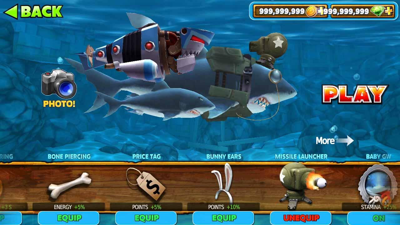 download hungry shark mod apk 2019
