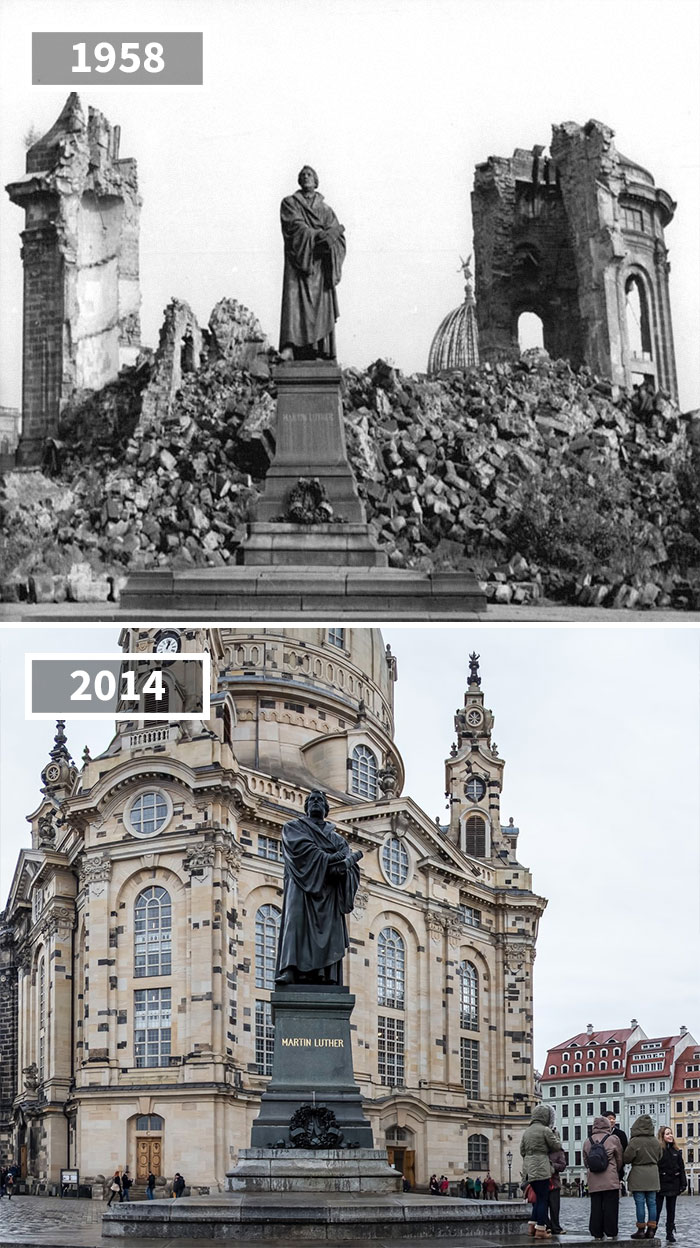 Martin Luther Statue, Dresden, Germany, 1958 - 2014