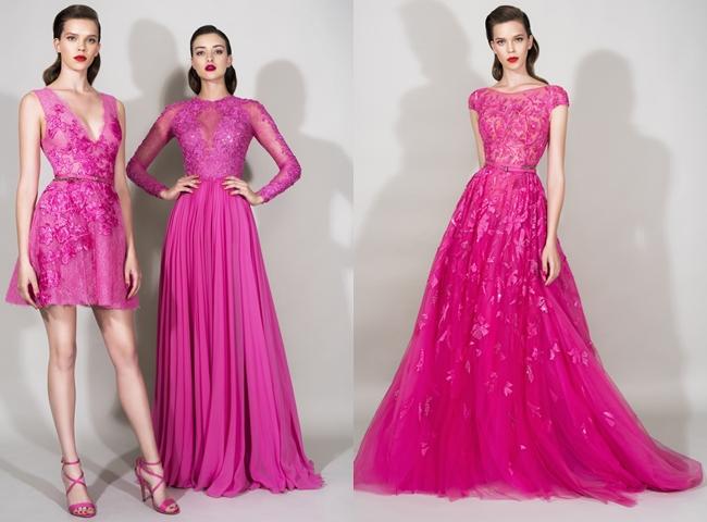 fuchsia hot red dresses