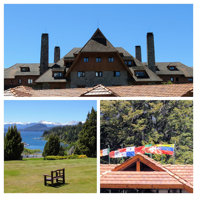 Collage of pictures from the Llao Llao Hotel near Bariloche Argentina