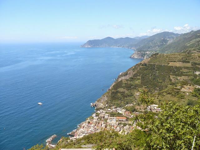 Panorama sulla costa delle Cinque Terre