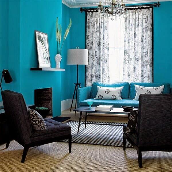 Ruang Tamu Minimalis Biru