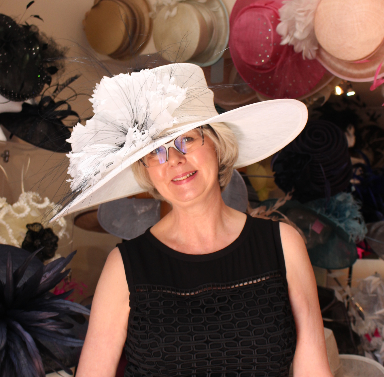 Anne C is sporting a cute raspberry pink crin hatinator which shimmers in  the sunlight 939ac1e3f333