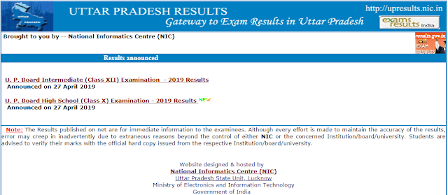 UP 10th Exam Results