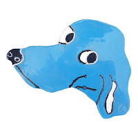Dog art in a blue theme for indoor decoration