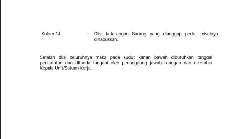 Penjelasan Detail Cara Pengisian Kartu Inventaris Ruangan Hal-2 dalam Inventaris Barang Sekolah