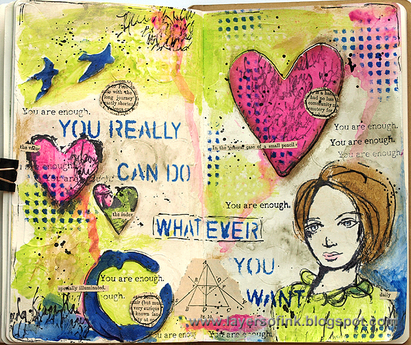 http://layersofink.blogspot.com/2014/09/enough-art-journaling-tutorial.html