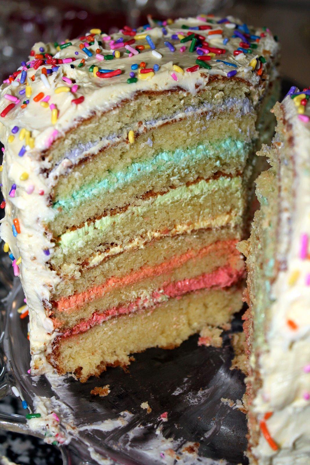 Fairy Rainbow 7 Layer Birthday Cake