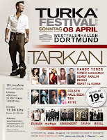 Tarkan on stage in Dortmund