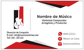 tarjetas de presentación para músicos con elegantes diseÑos
