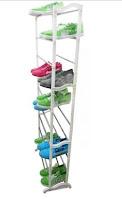 Portable Shoe Rack Foldable 30 Pairs - Putih