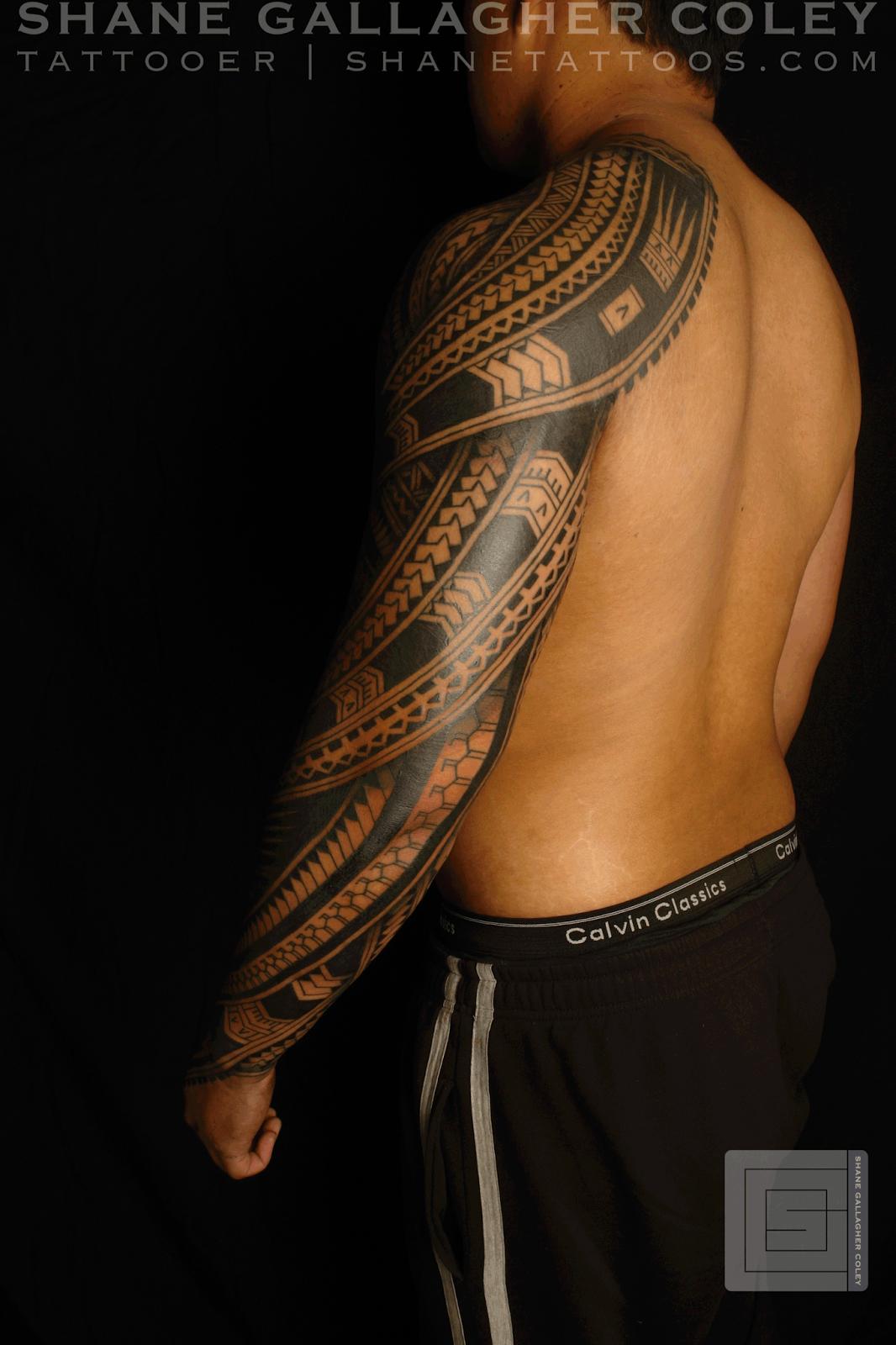 5c406d961 Polynesian Sleeve Tatau, Tattoo