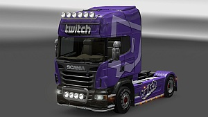 Twitch.TV skin for Scania