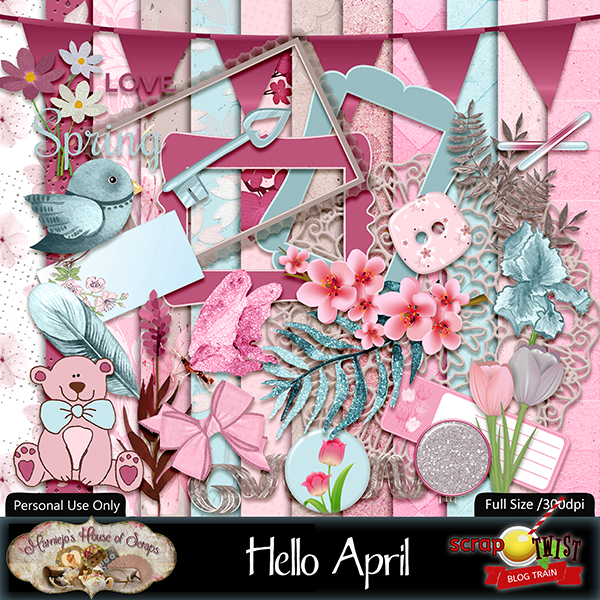 "April Scrap Twist Blogtrain - ""Hello April"""