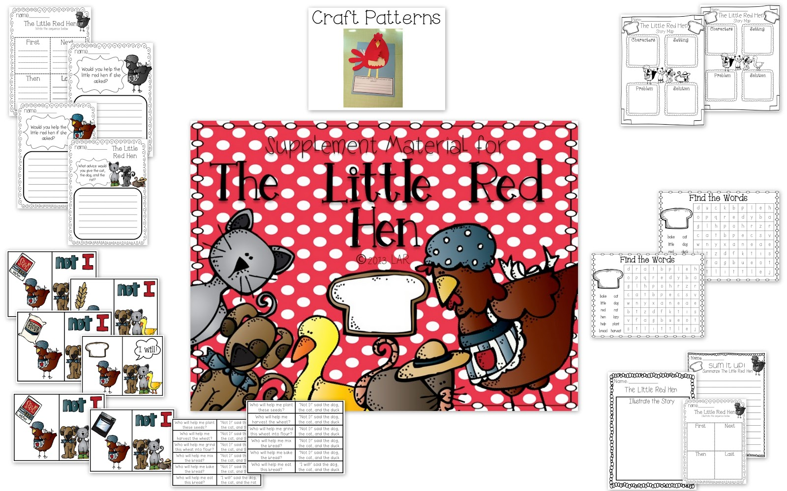 Life In First Grade The Little Red Hen Activities And Craft