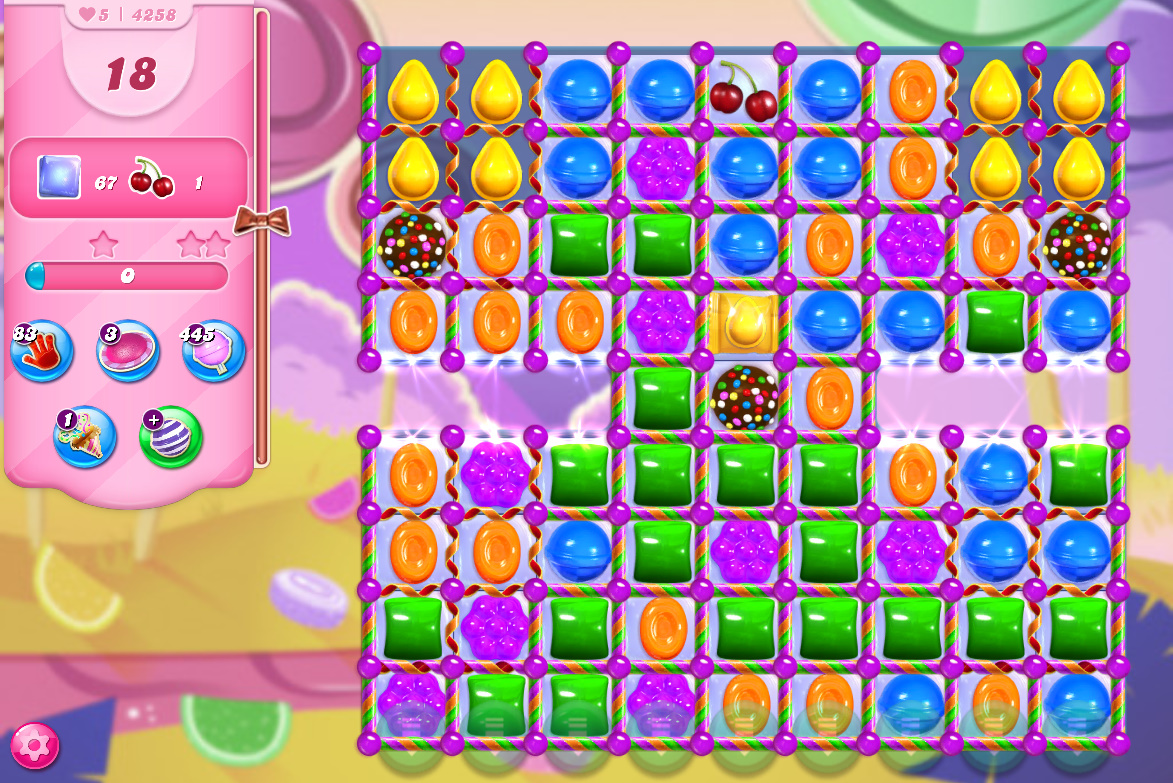 Candy Crush Saga level 4258