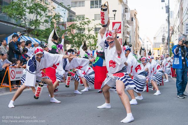 江戸っ子連、マロニエ祭り、ヒューリック浅草橋ビル前での演舞の写真 その4