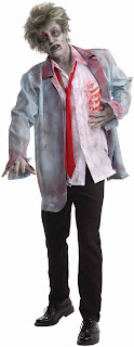 Men's Zombie Man Adult Costume - Gray - Standard One-Size