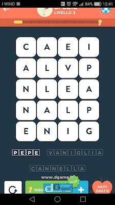 WordBrain 2 soluzioni: Categoria Spezie (4X5) Livello 3