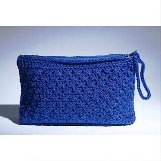 Dompet Rajut Cantik Warna Biru