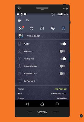 Download BBM MOD Dark Navy v3.3.2.31 APK Clone Unclone Full Version Gratis