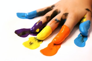 Finger Painting School Paints