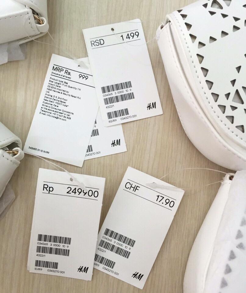 Giỏ xách bé gái hiệu H&M, hàng xuất xịn, made in cambodia.