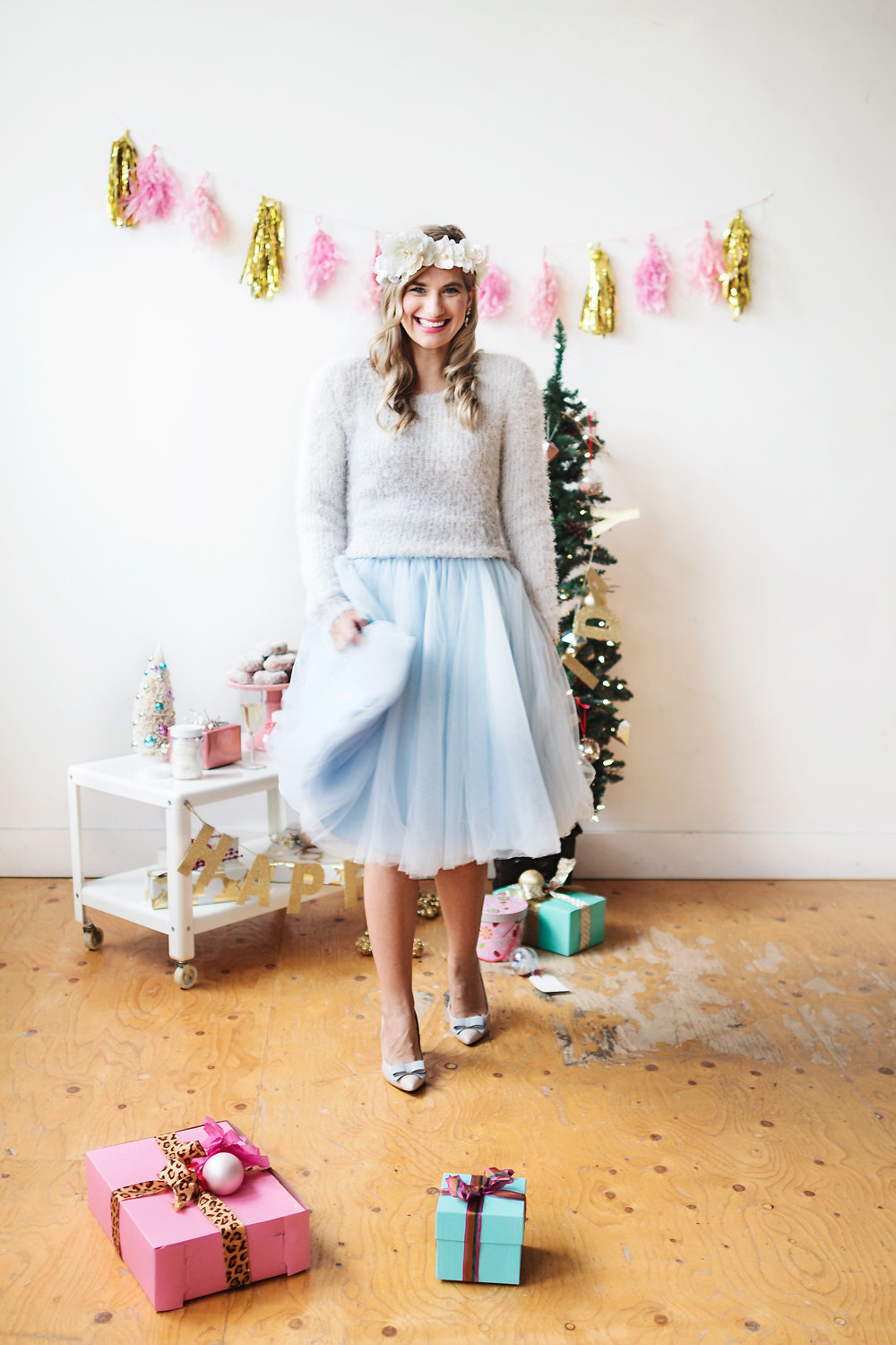 bijuleni-Toronto Bloggers Pink Christmas Photoshoot and Pastel Dress Party tutus