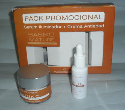 Imagen Pack promocional serum iluminador + Crema Antiedad Basiko Mature