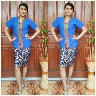 Model KEbaya Batik Velisa Biru